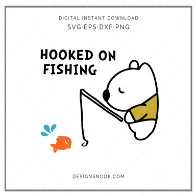 Hooked on Fishing - SVG
