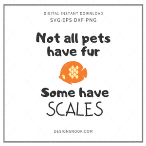 Not all pets have fur, some have scales - SVG