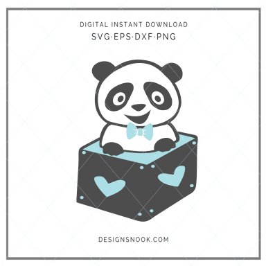 Baby Panda in a box - SVG