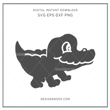 Baby alligator - SVG