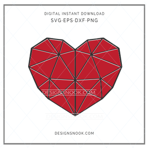 Layered Geometric Heart - SVG