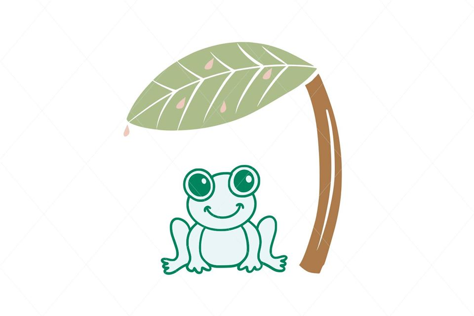 Green Frog SVG Digital File Clipart Instant Download Sublimation Cricut EPS PNG Kermit Illustration Animal Leaf Botanical