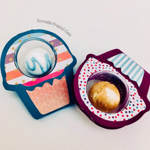 Load image into Gallery viewer, Cupcake Bath bomb packaging - SVG Cut File | Bonus File - PDF Template