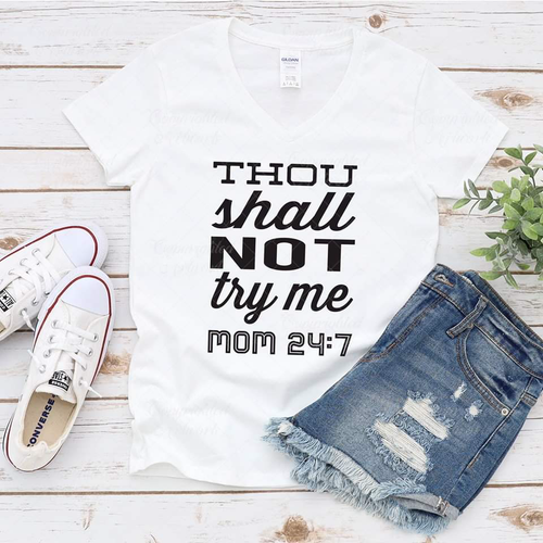 Thou shall not try me - SVG