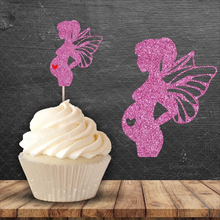 Load image into Gallery viewer, Pregnant Fairy Cake Topper - SVG