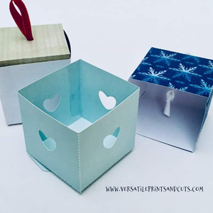 Cube box template v8 - SVG DXF