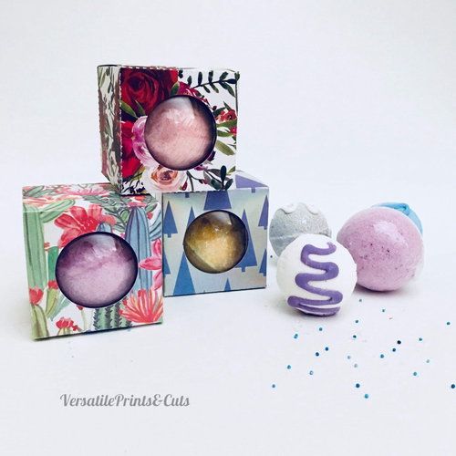 Bauble box, bath bomb packaging - SVG PDF