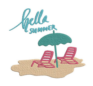FREE - Hello Summer - Embroidery Design File