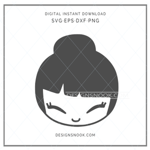 Japanese girl - SVG