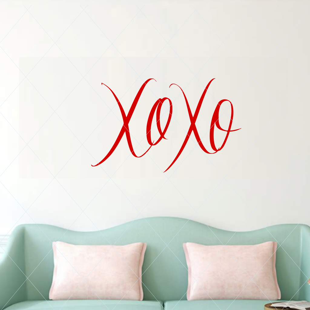 Handwritten svg, XOXO cut file, valentine svg, love svg, hug and kiss svg, cut file lipart stencil decal sticker template transfer DM154