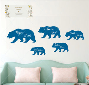 Bear family - SVG