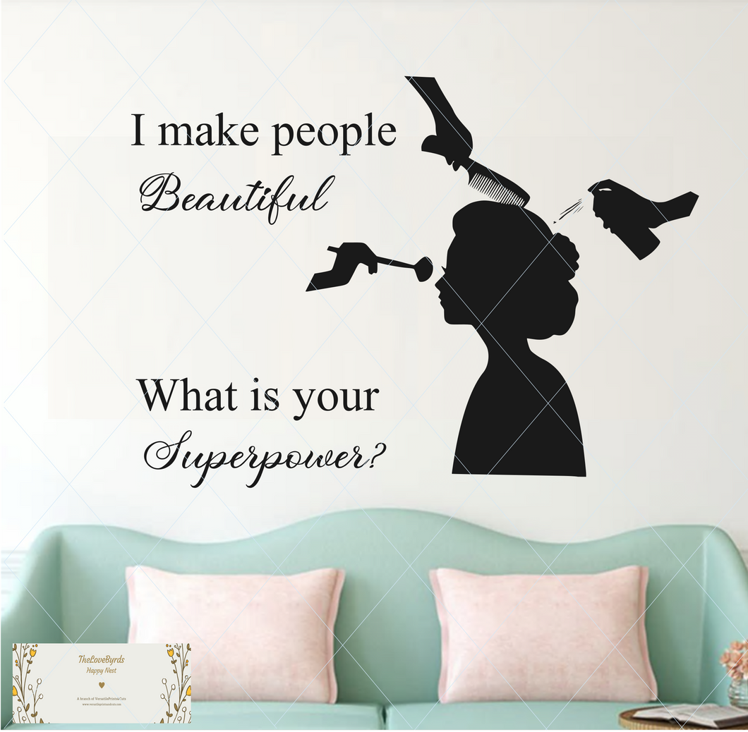 I make people beautiful, what is your superpower? SVG
