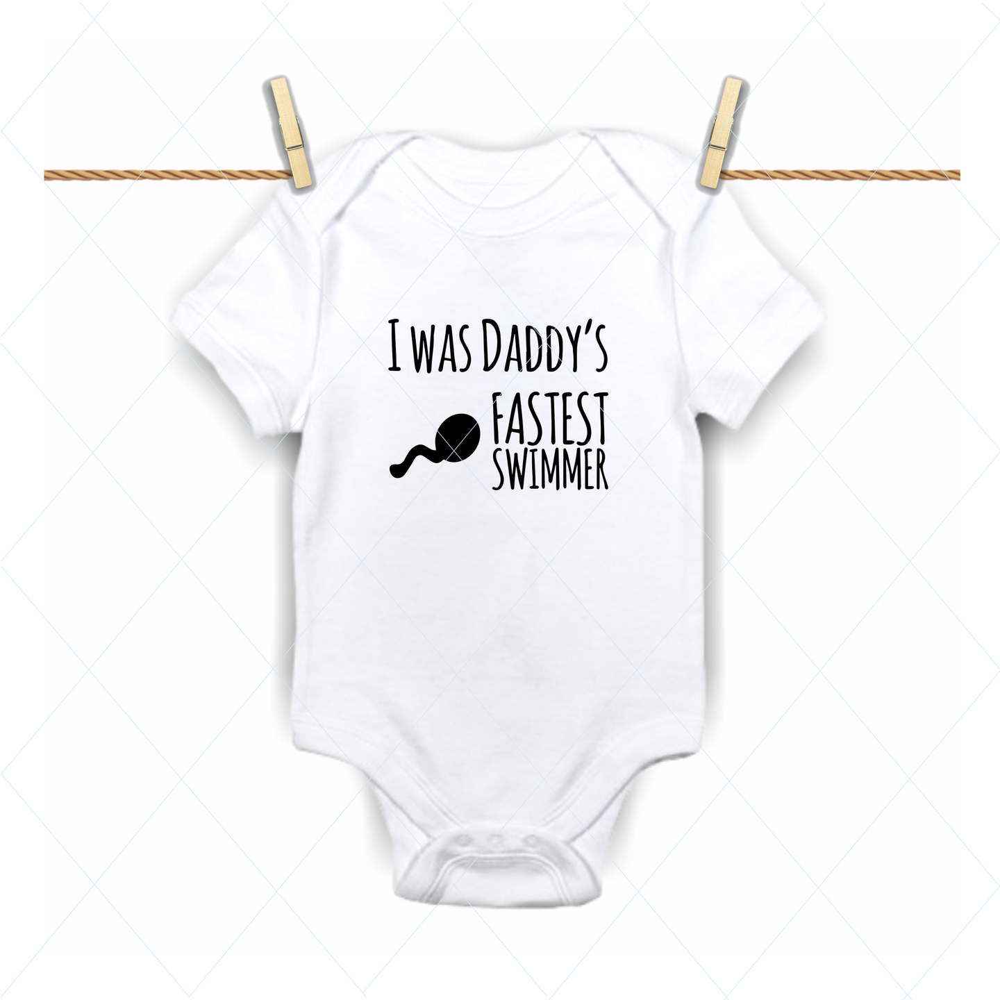 Daddy's fastest swimmer - SVG