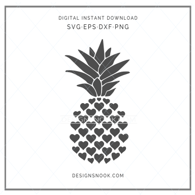Heart Pineapple - SVG
