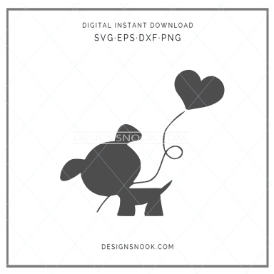 Heart puppy - SVG
