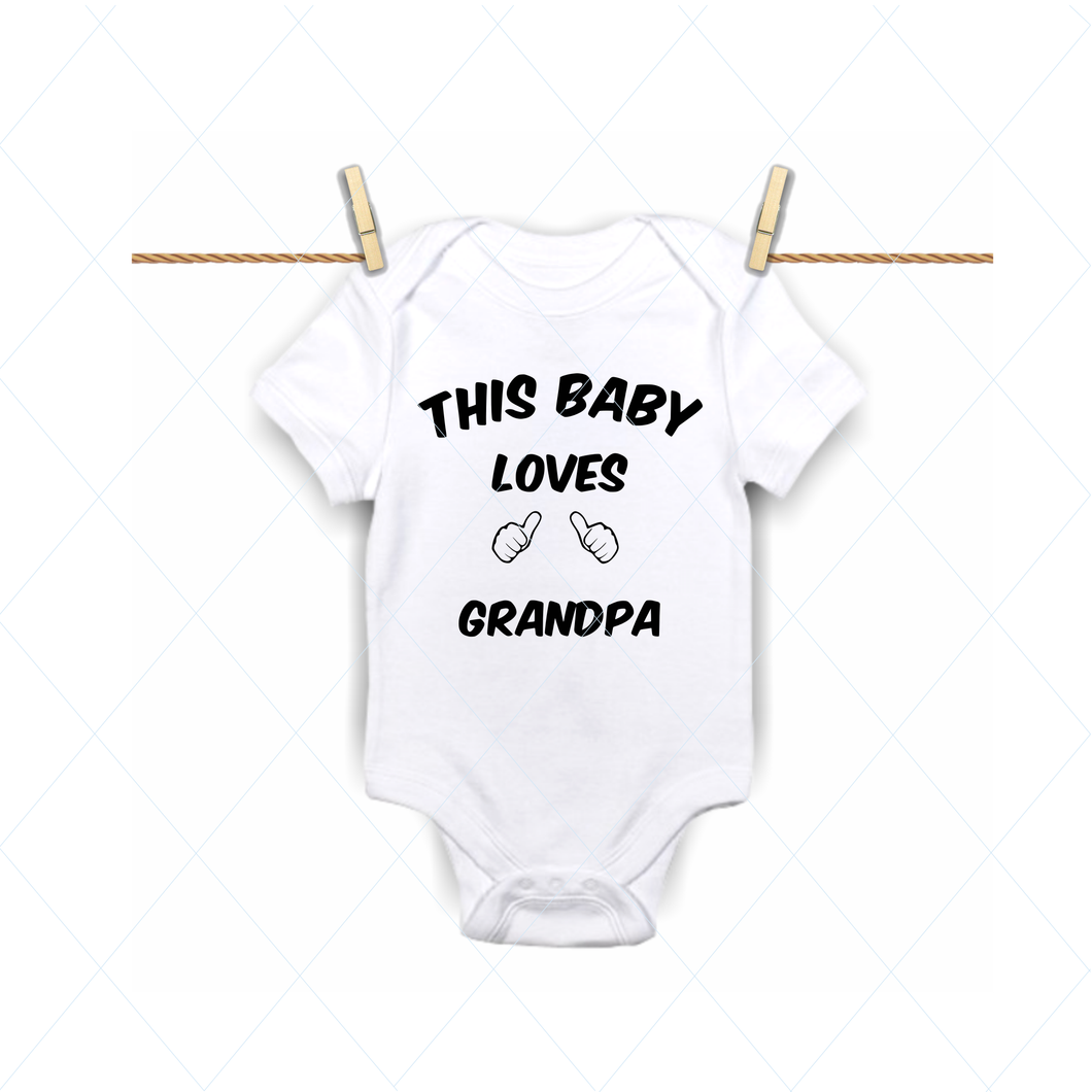 This baby loves grandpa - SVG