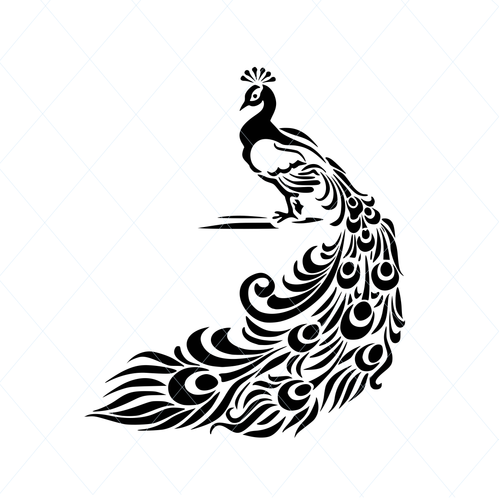 Beautiful peacock, peacock svg, intricate design svg, clipart stencil template transfer svg vector file for cutting machine 763