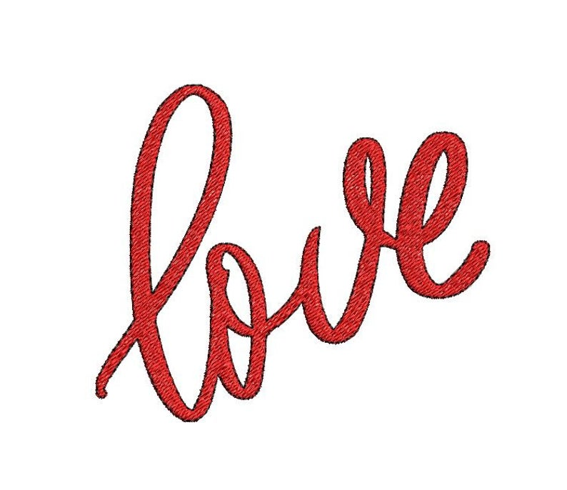 FREE - LOVE - Handwritten Embroidery Design File