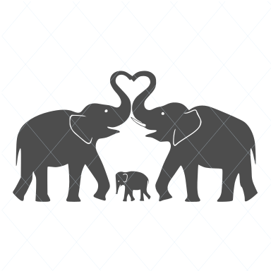 Elephant svg, elephant cut file, elephant vector, elephant silhouette, couple svg, elephant decal, baby shower svg, mom aand dad svg 1131
