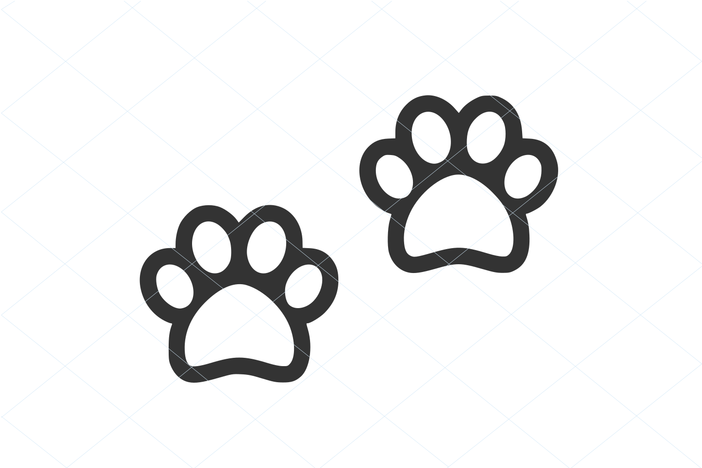 Cute paw svg, paw cut file, paw silhouette, paw vector, cute pet paw, paw lover, animal lover, decal clip art stencil sticker template