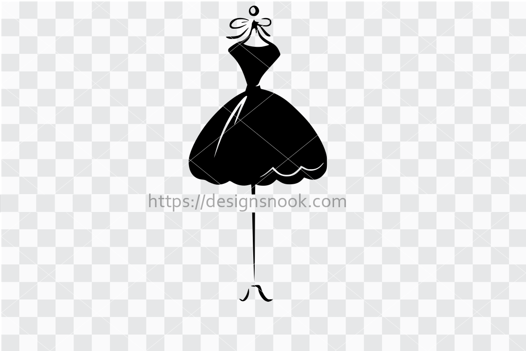 Dress svg, dress cut file, dress form svg, dress form cut file, dress vector, fashion svg, fashion decal, woman dress, pretty dress svg 1289