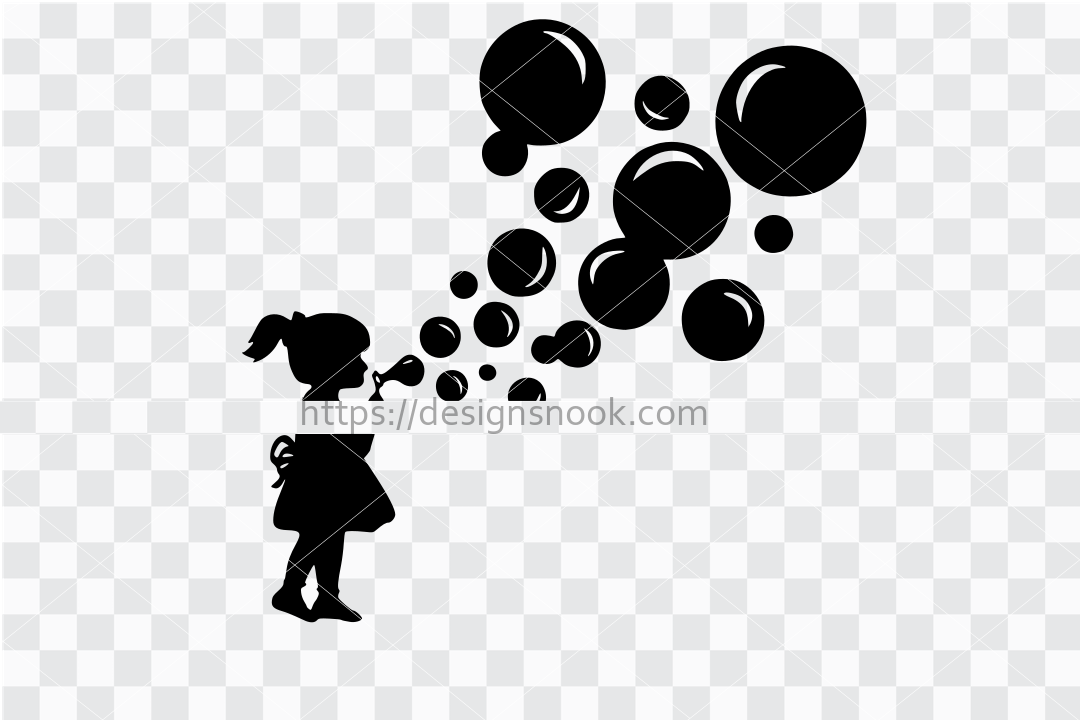 Cute girl blowing bubbles svg, vintage girl, bubbles svg, blowing bubbles, cute vintage svg, clip art stencil template transfer vector file 1291