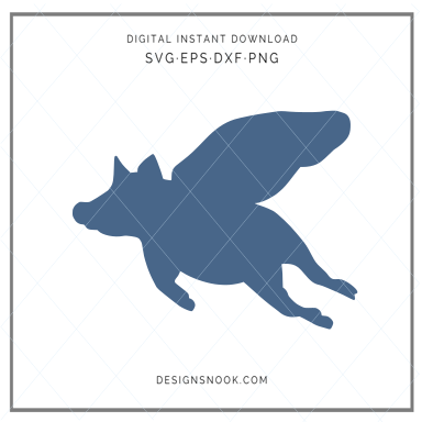 Flying Pig - SVG