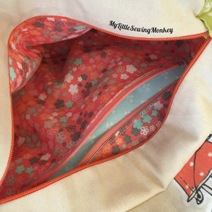 Tote Bag with Leather Handles - PDF Sewing Pattern
