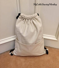 Load image into Gallery viewer, PDF Sewing Pattern - Quintos String Backpack
