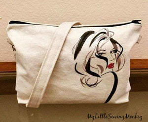 Free Sewing Pattern - Canvas Crossbody Bag with Transferred Image
