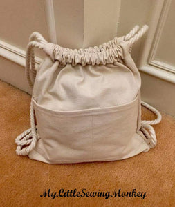 Small Drawstring Backpack - PDF Sewing Pattern