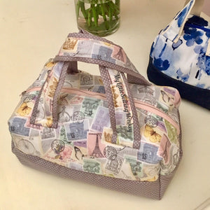 PDF Sewing Pattern - Bordeaux Mini Duffel Bag, Sewing DIY, Sewing Tutorial, Sewing how-to