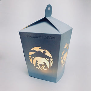 3D Nativity Lantern - SVG PDF