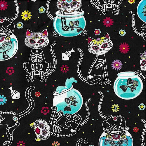 Day of Dead Cats Maxx Scrub Hat