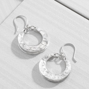 Broad Hoop Drop Earrings