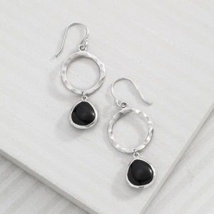 Dark Halo Drop Earrings