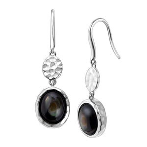 Dark Moon Drop Earrings