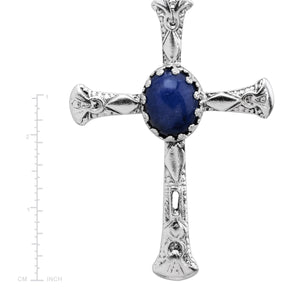 Denim Cross Pendant