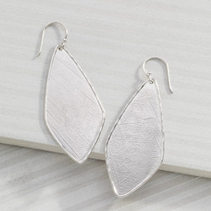 Etched Effect Drop Earrings