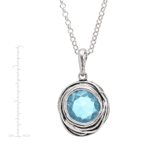 Hooked On Blue Pendant