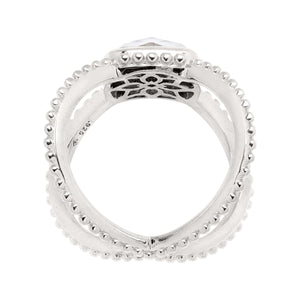 Snowcap Crisscross Ring
