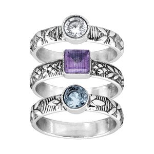 Tropi-Calling Your Name Stacking Rings
