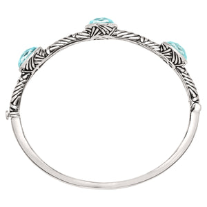 Turquoise Drops Bangle Bracelet