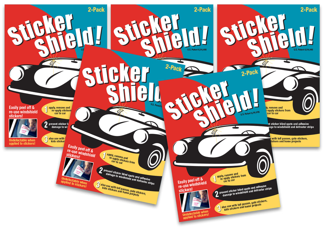 5 Sticker Shield Packs (10 sheets)