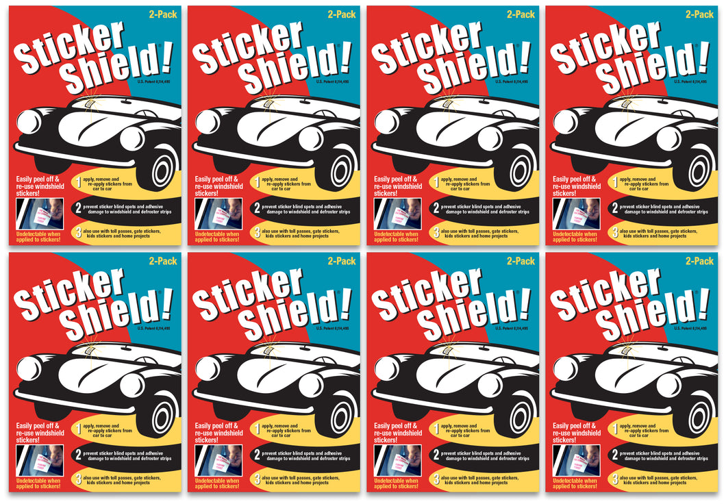 8 Sticker Shield Packs (16 sheets)