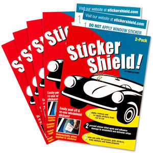 Sticker shield 5 pack includes ten 4 X 6-inch sheets of sticker shield.