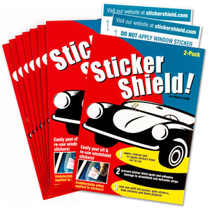 Buy sticker shield 8 pack that includes sixteen sheets of 4 by 6 inch sheets.