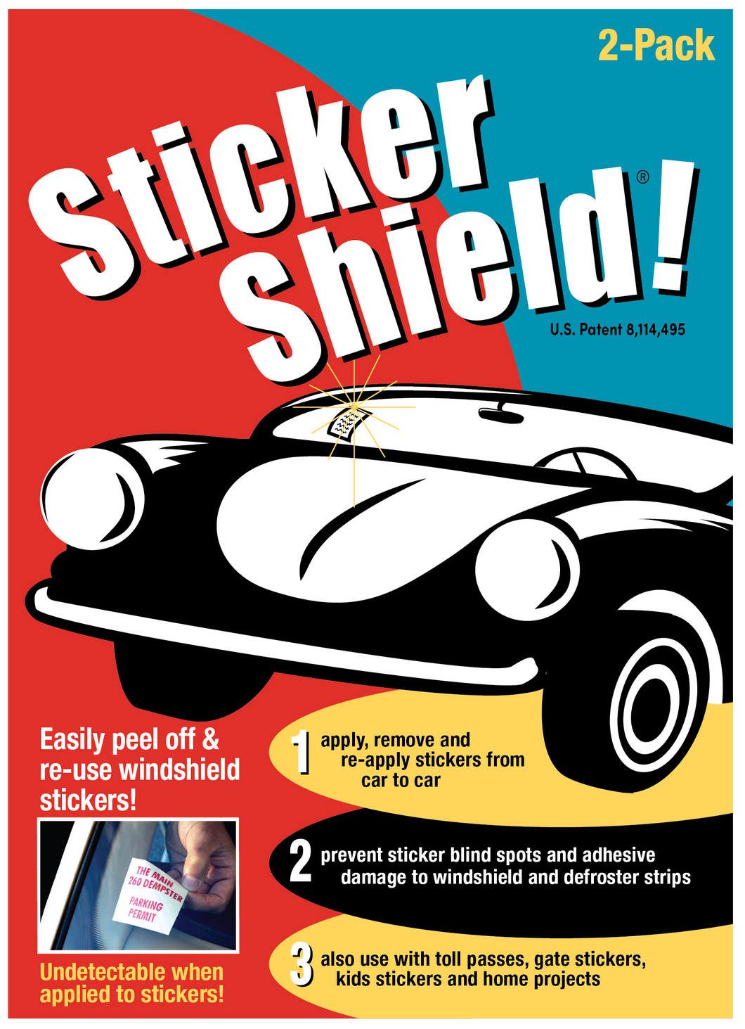 1 Sticker Shield Pack (2 sheets)