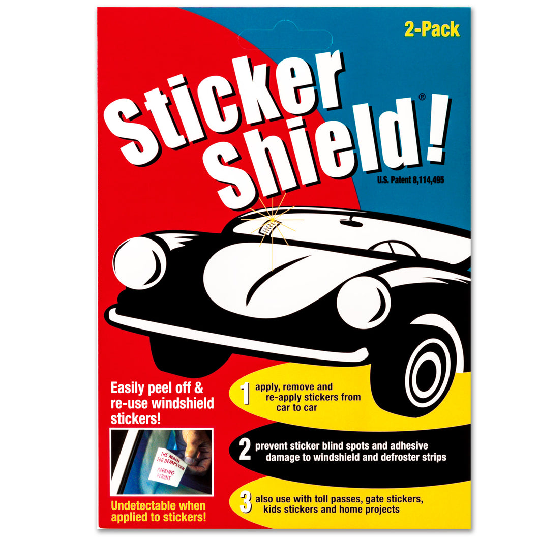 Buy sticker shield 1 pack which includes two sheets of 4 by 6 removable adhesive film.