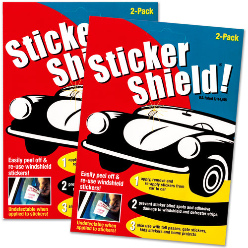 Buy sticker shield 1 pack including four sheets of 4 by 6 removable adhesive film.